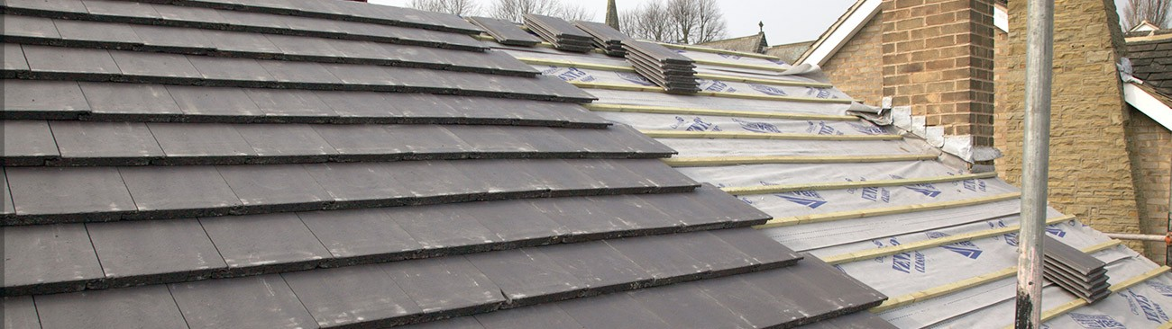 Laying a tiled roof